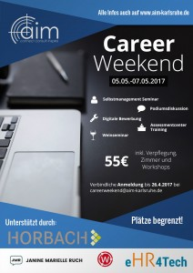 Career Weekend Plakat - NEU2A6
