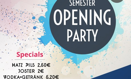 Semester Opening Party SS18 am 22.03.2018