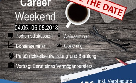 Career Weekend 2018 vom 04.05. bis 06.05.2018