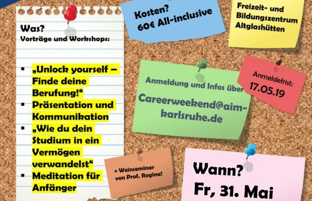 Career Weekend 31.05-02.06.19